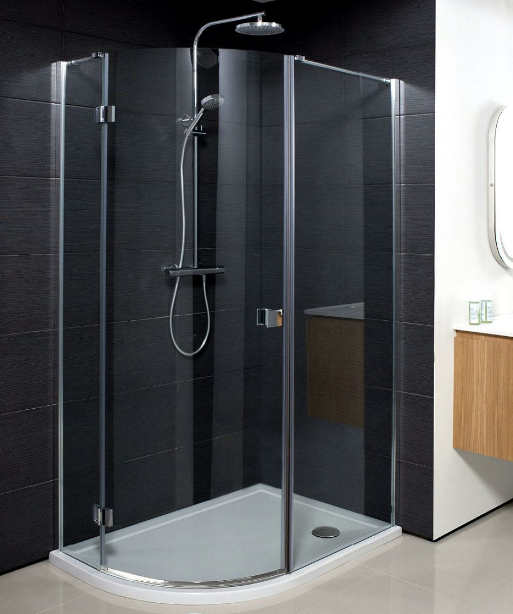 Simpsons design quadrant single hinged shower door uk for 1200 hinged shower door