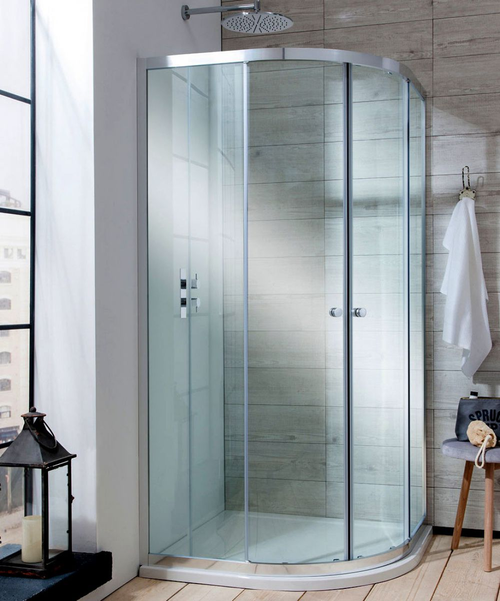 Simpsons Edge Quadrant Double Door Shower Enclosure : UK Bathrooms
