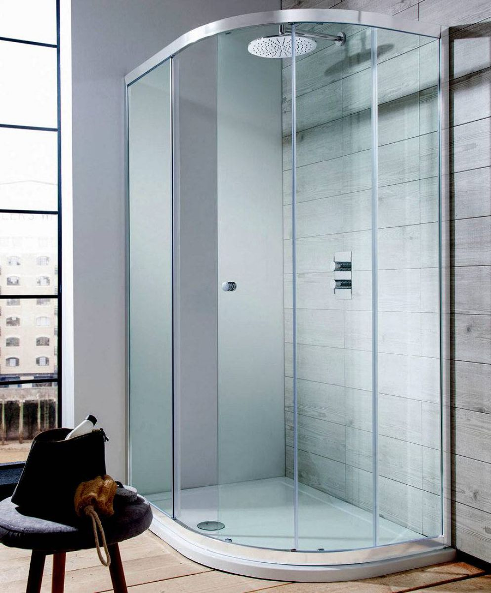 Beautiful single door shower enclosure pictures for Door quadrant