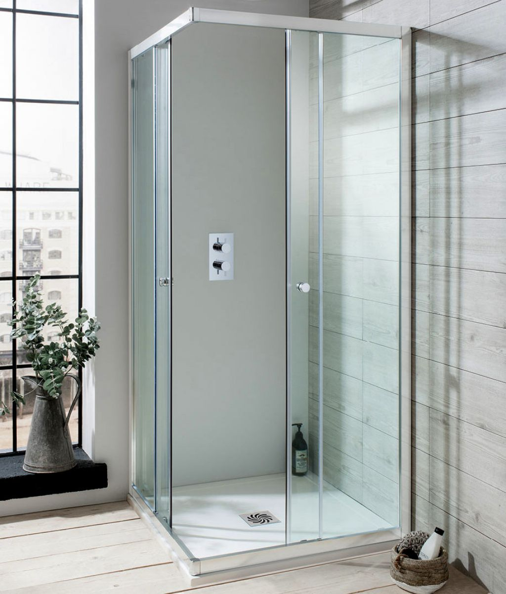 Simpsons Edge Corner Entry Shower Enclosure : UK Bathrooms