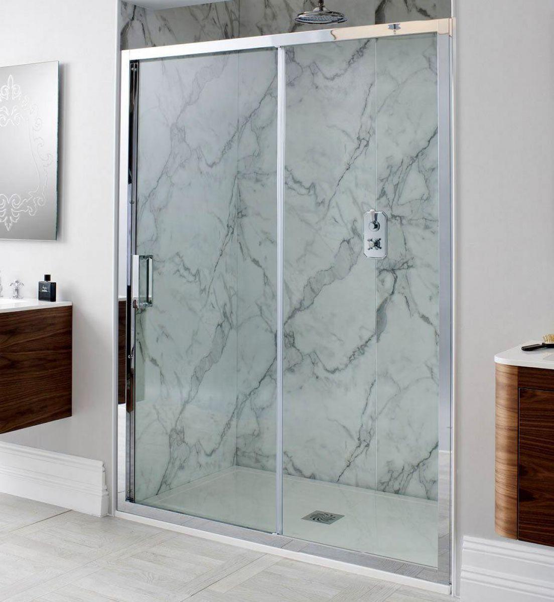 Simpsons Elite Single Slider Shower Door : UK Bathrooms