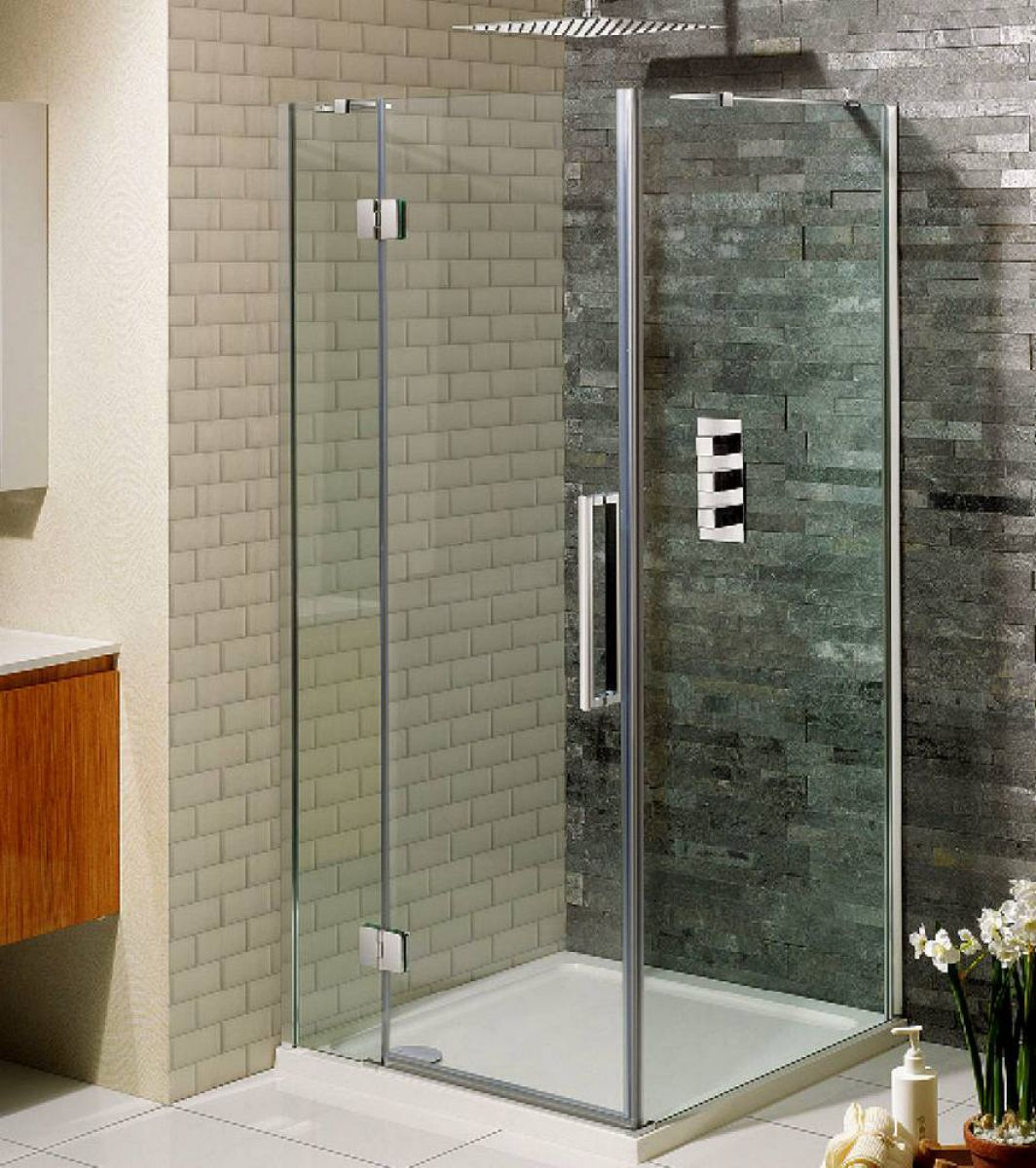 Simpsons ten hinged shower door with inline panel uk for 1200 hinged shower door