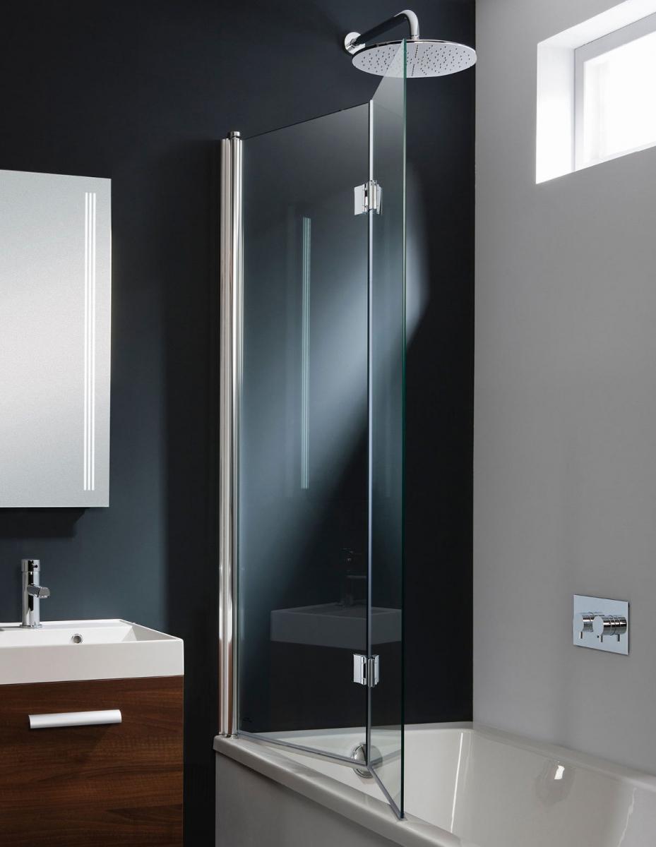 Simpsons Design Design Double Bath Screen Dual Inward Opening Uk Bathrooms