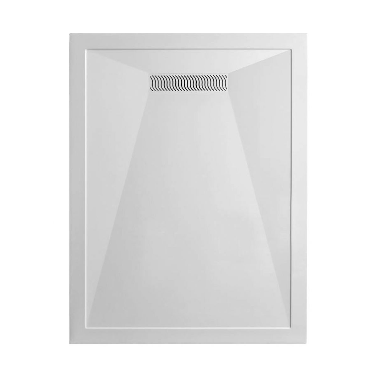Simpsons 25mm Stone Resin Shower Tray with Linear Waste : UK Bathrooms