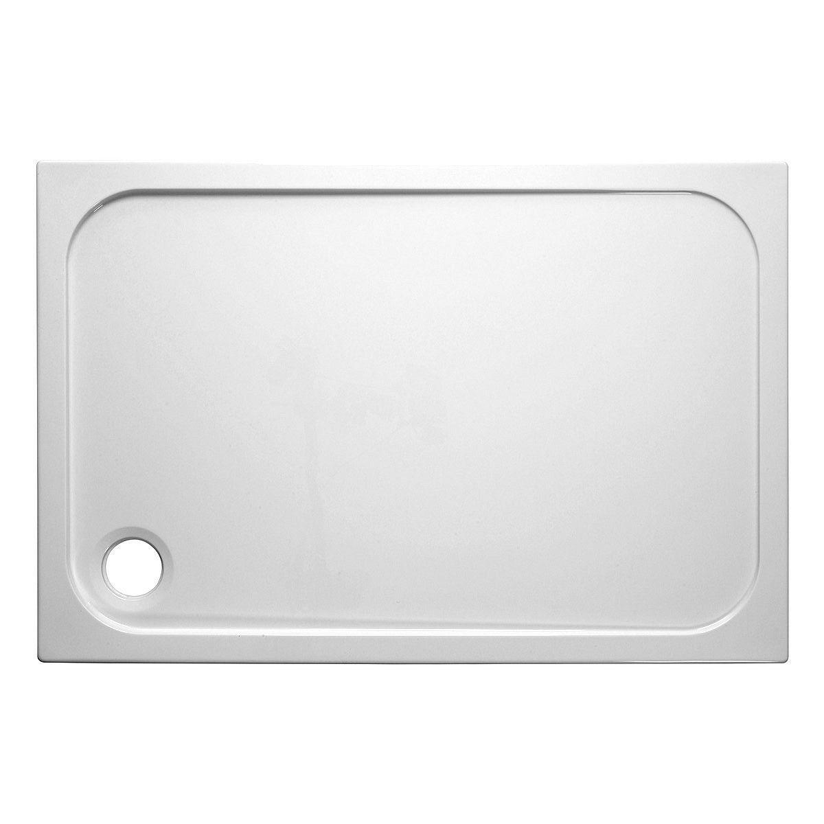 simpsons rectangular 45mm stone resin shower tray uk. Black Bedroom Furniture Sets. Home Design Ideas