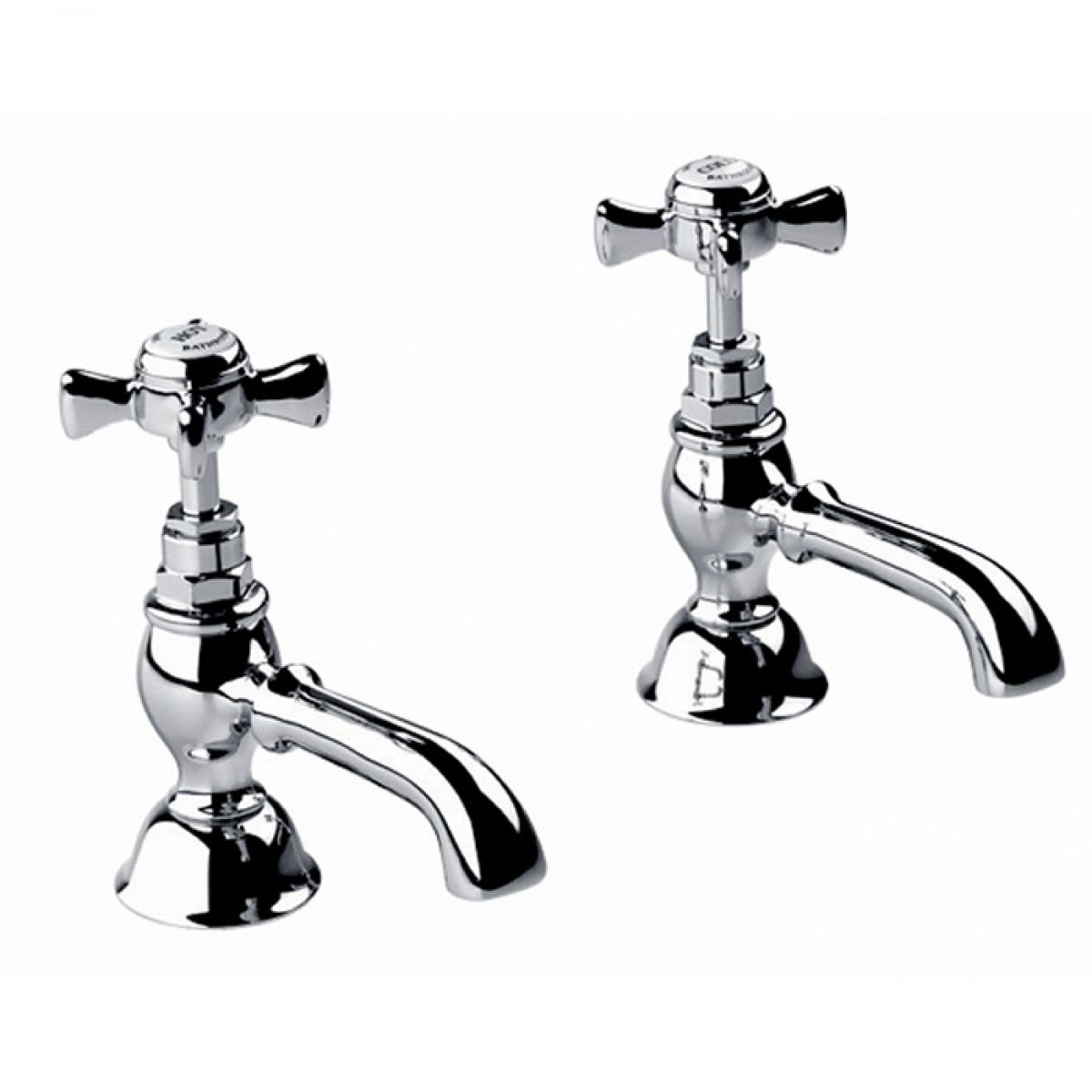 Imperial Edwardian Basin Pillar Taps : UK Bathrooms