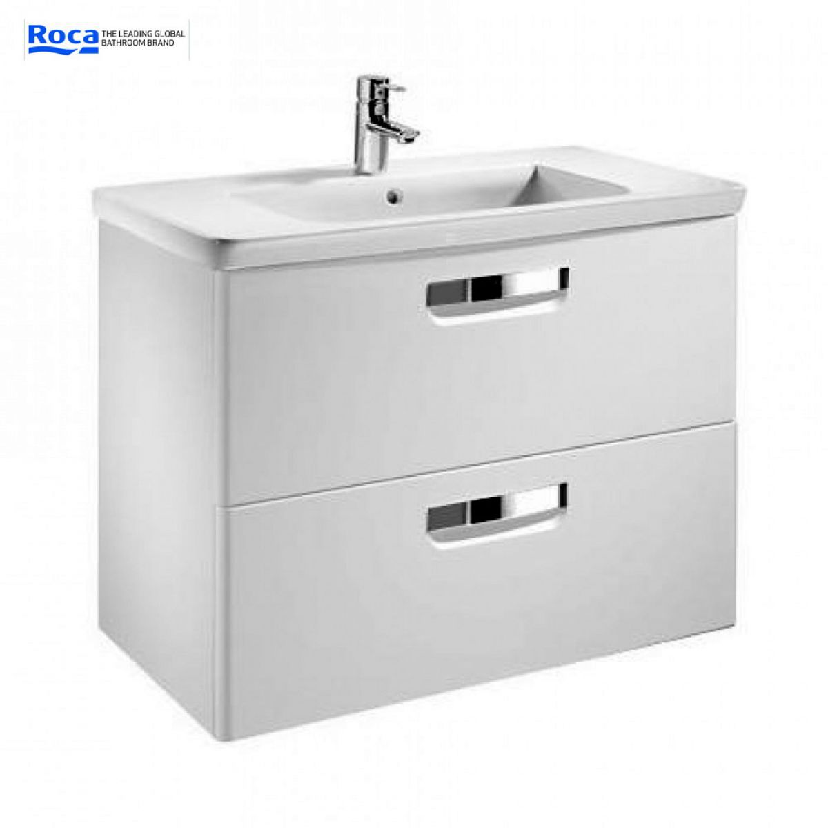 Roca the gap n unik base unit with basin uk bathrooms for Roca the gap