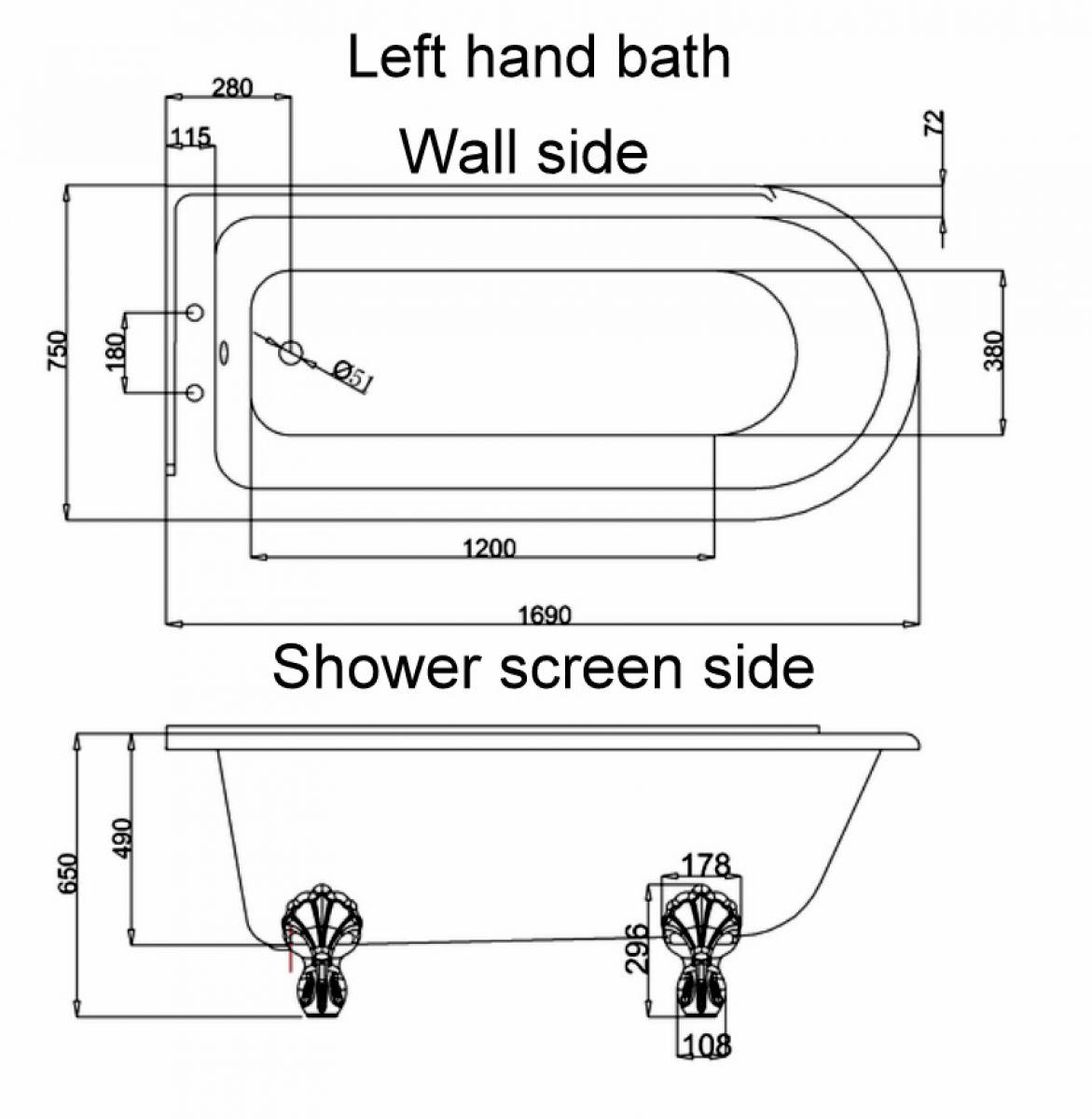 burlington hton traditional shower bath uk bathrooms