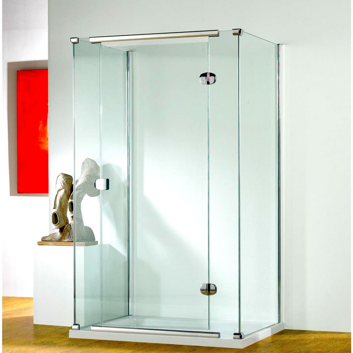 Kudos infinite straight hinged shower door uk bathrooms for 1200 hinged shower door