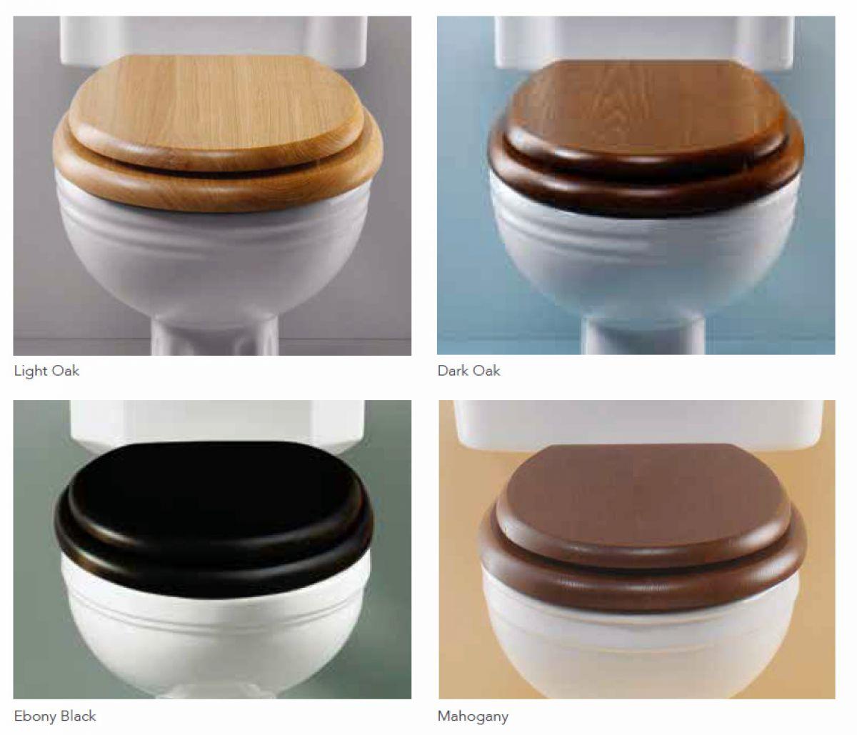 dark brown toilet seat. Silverdale Nouveau Traditional Close Coupled Toilet  UK Bathrooms