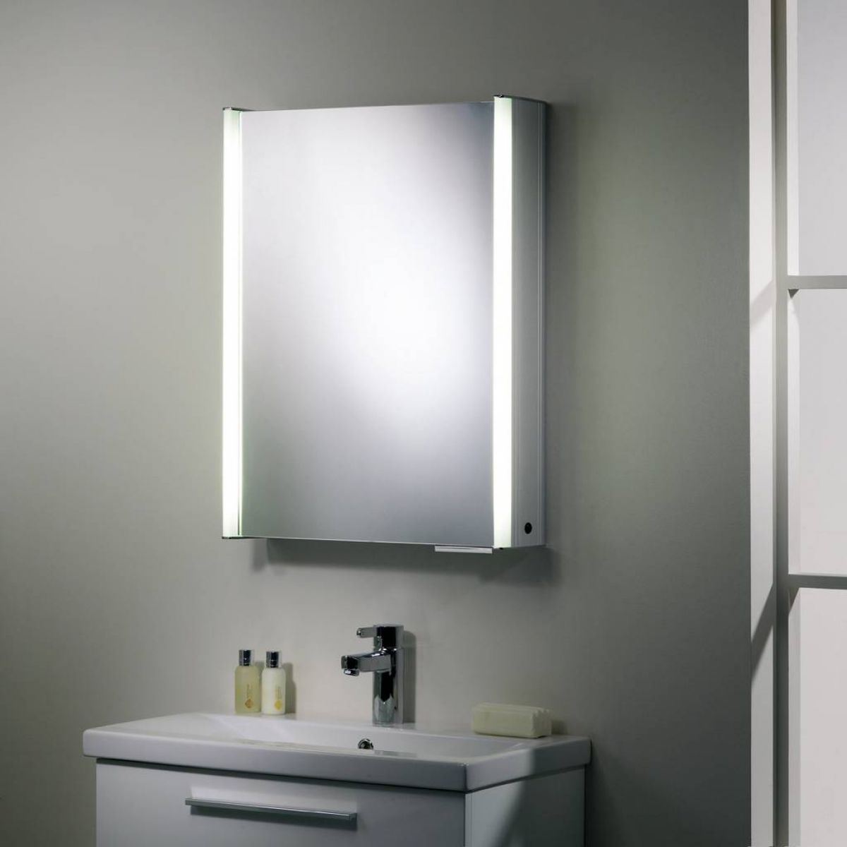 illuminated bathroom mirror cabinets roper ascension plateau single illuminated cabinet 17774