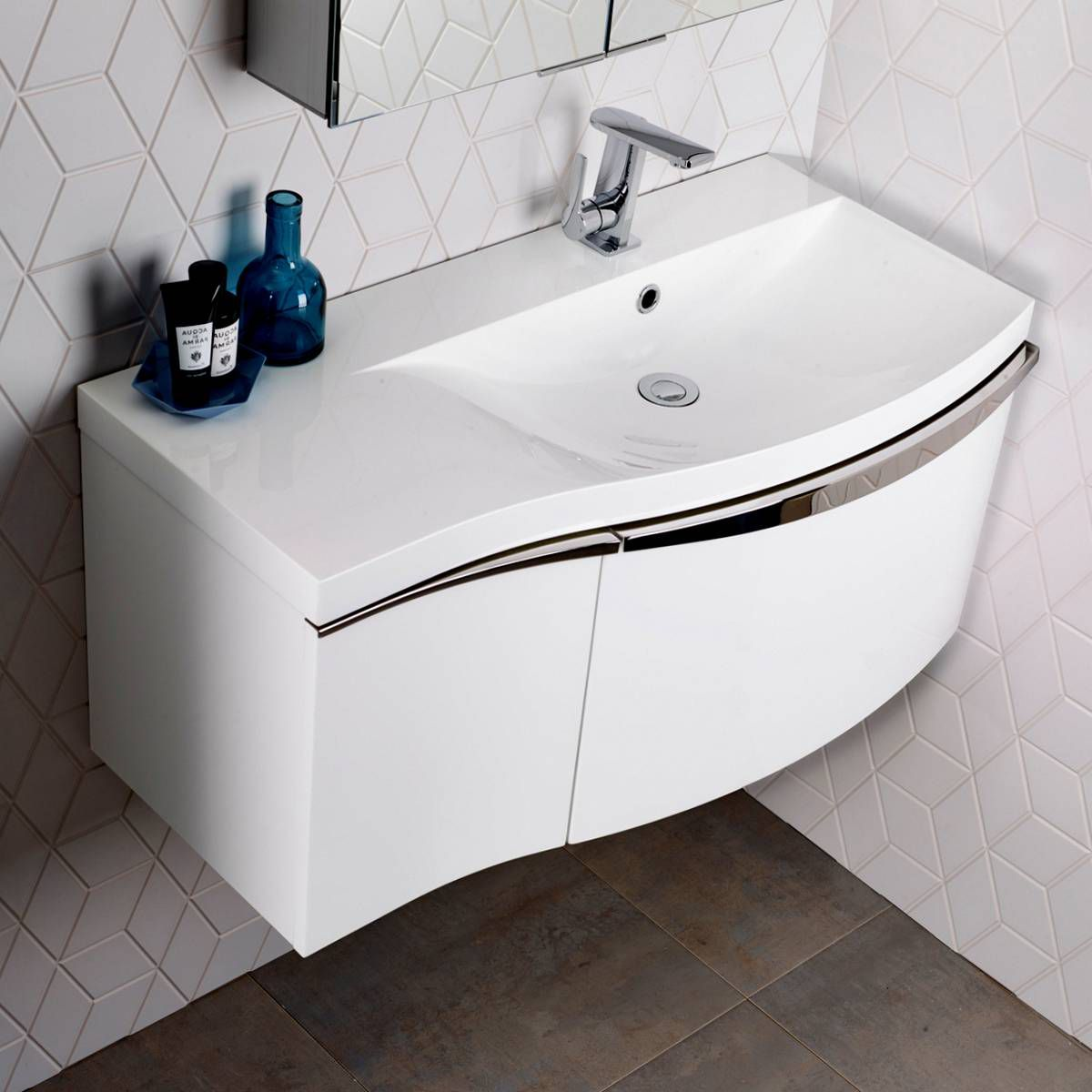 Roper rhodes serif wall mounted vanity unit uk bathrooms - Designer wall hung bathroom vanity units ...