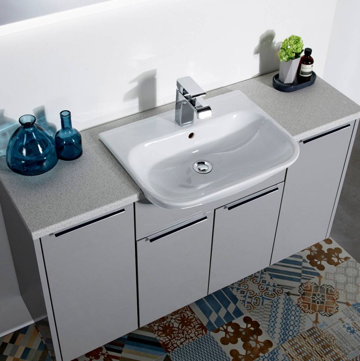 example image of a semi recessed basin