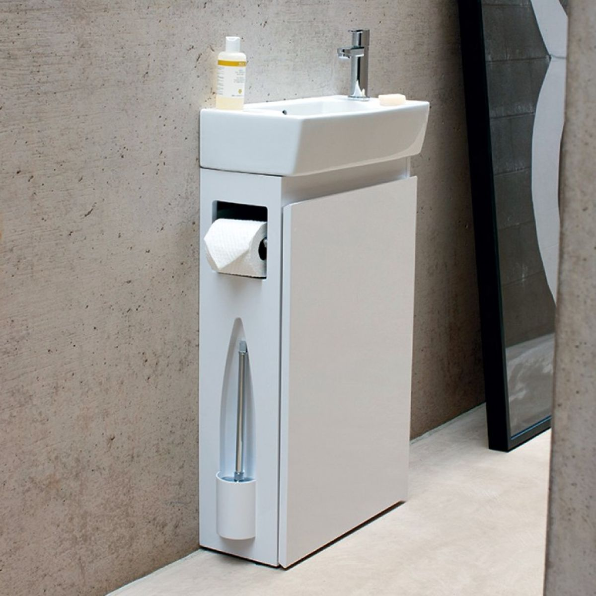 All in one bathroom - Aqua Cabinets All In One Cloakroom Unit With Basin