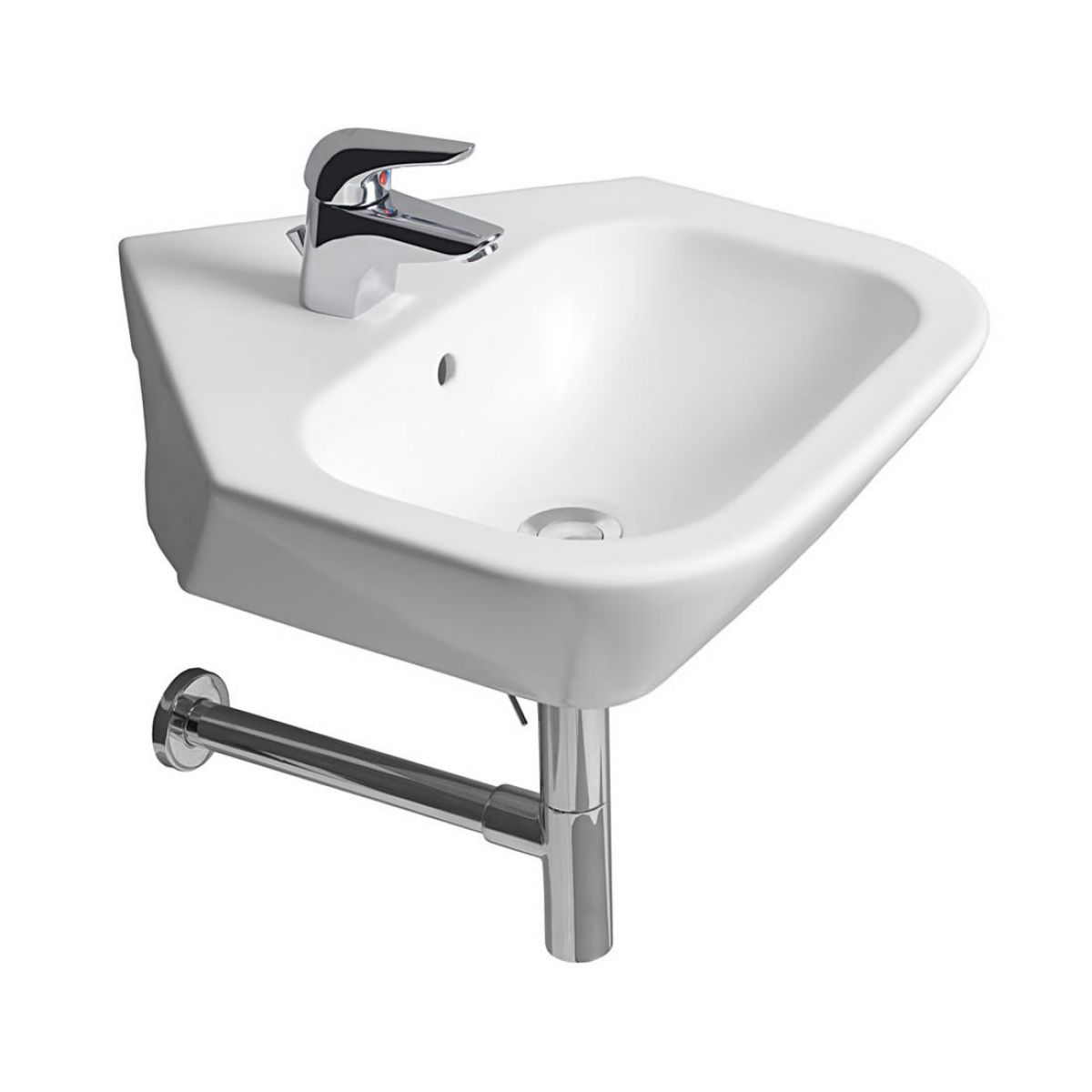 Roca nexo corner cloakroom basin 500mm uk bathrooms for Roca cloakroom basin