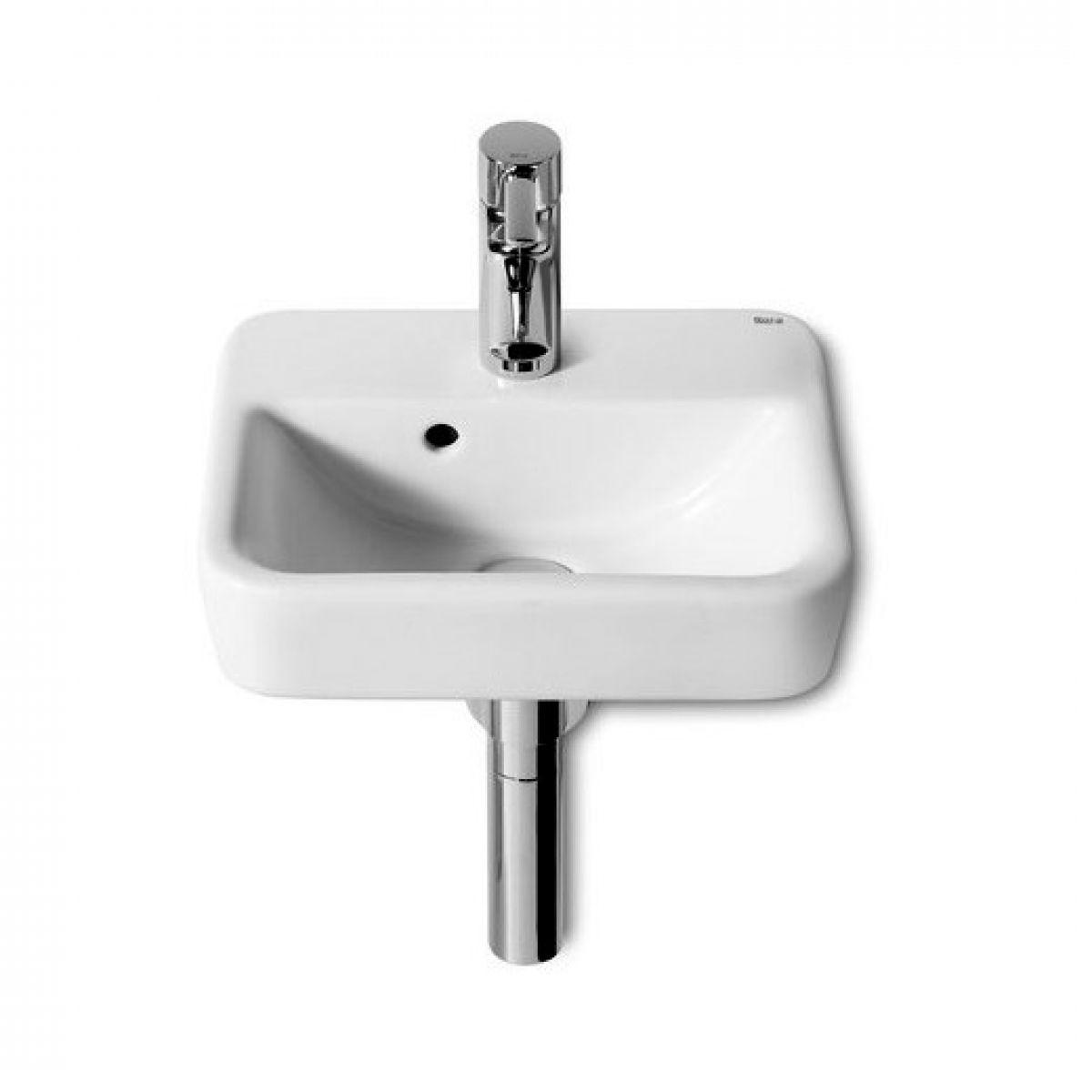 Roca senso square small 350mm cloakroom basin uk bathrooms for Roca cloakroom basin
