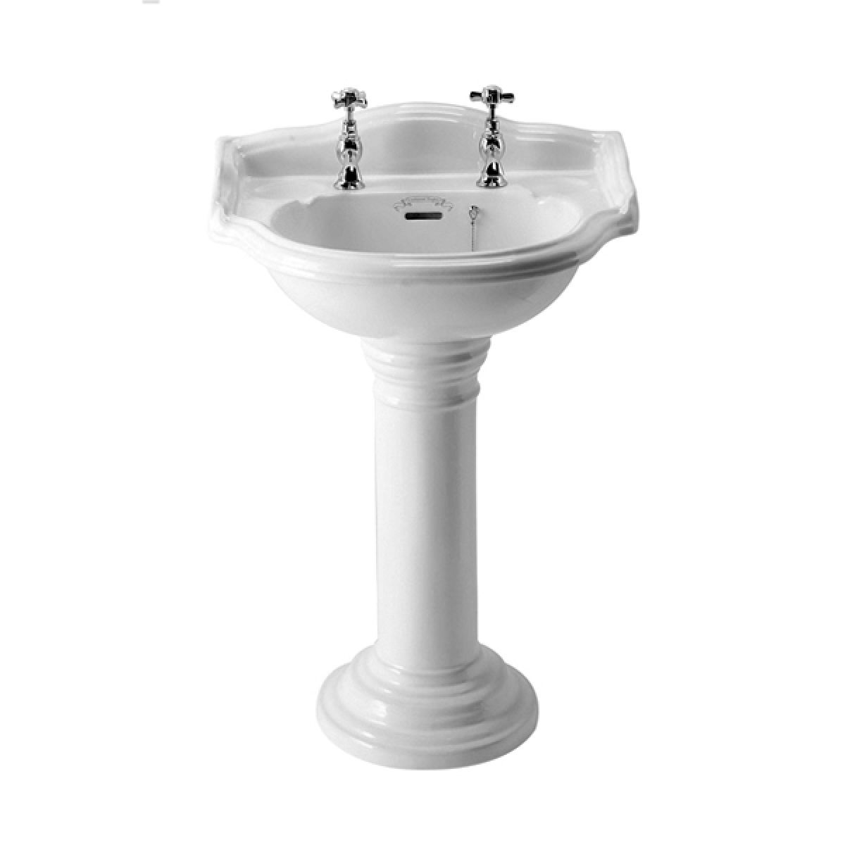 Small Basin With Pedestal : ... basin full pedestal home bathrooms basins and sinks traditional basins