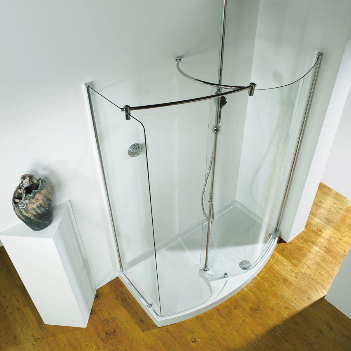 kudos ultimate curved corner walk in shower enclosure uk