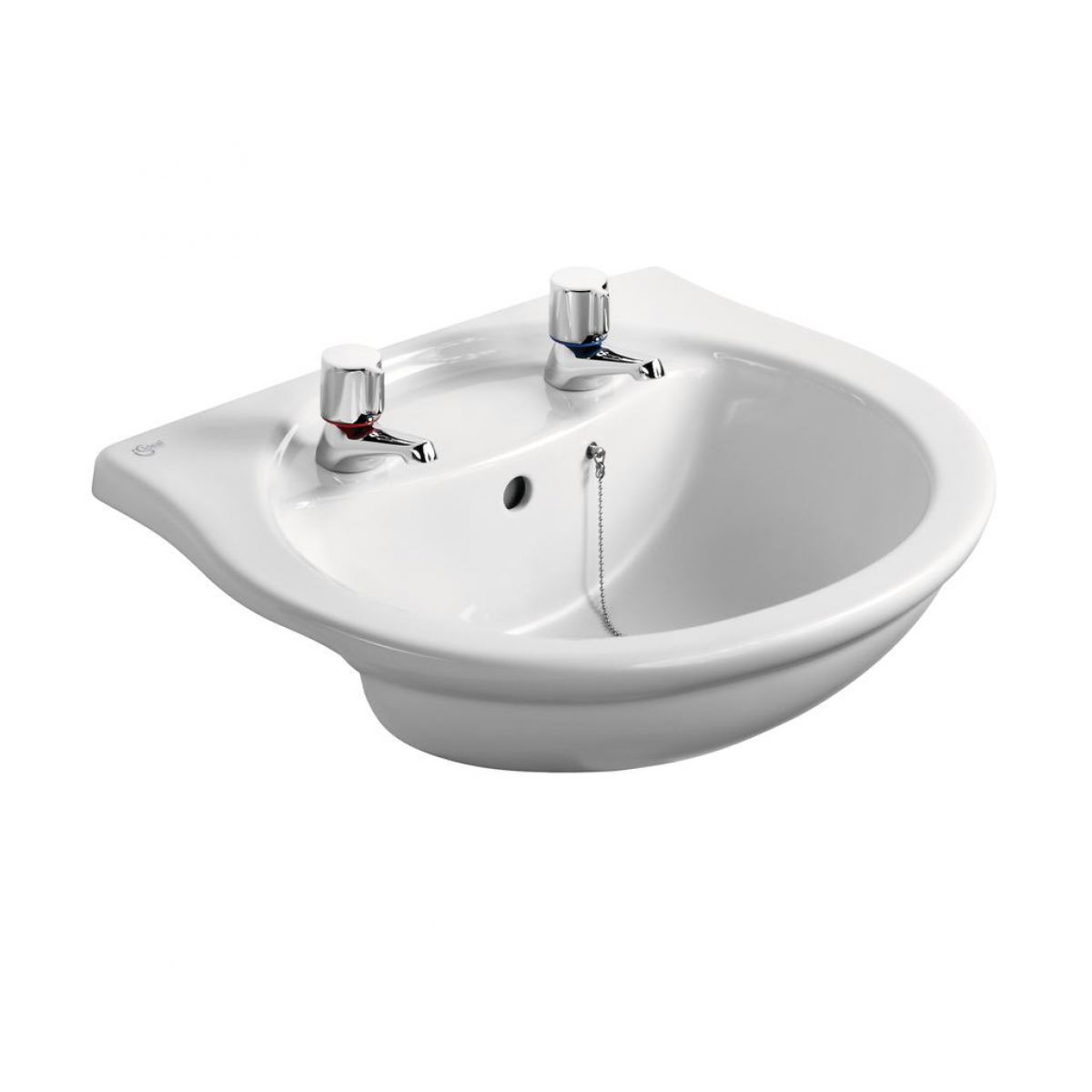 ideal standard alto semi countertop 55cm basin uk bathrooms. Black Bedroom Furniture Sets. Home Design Ideas