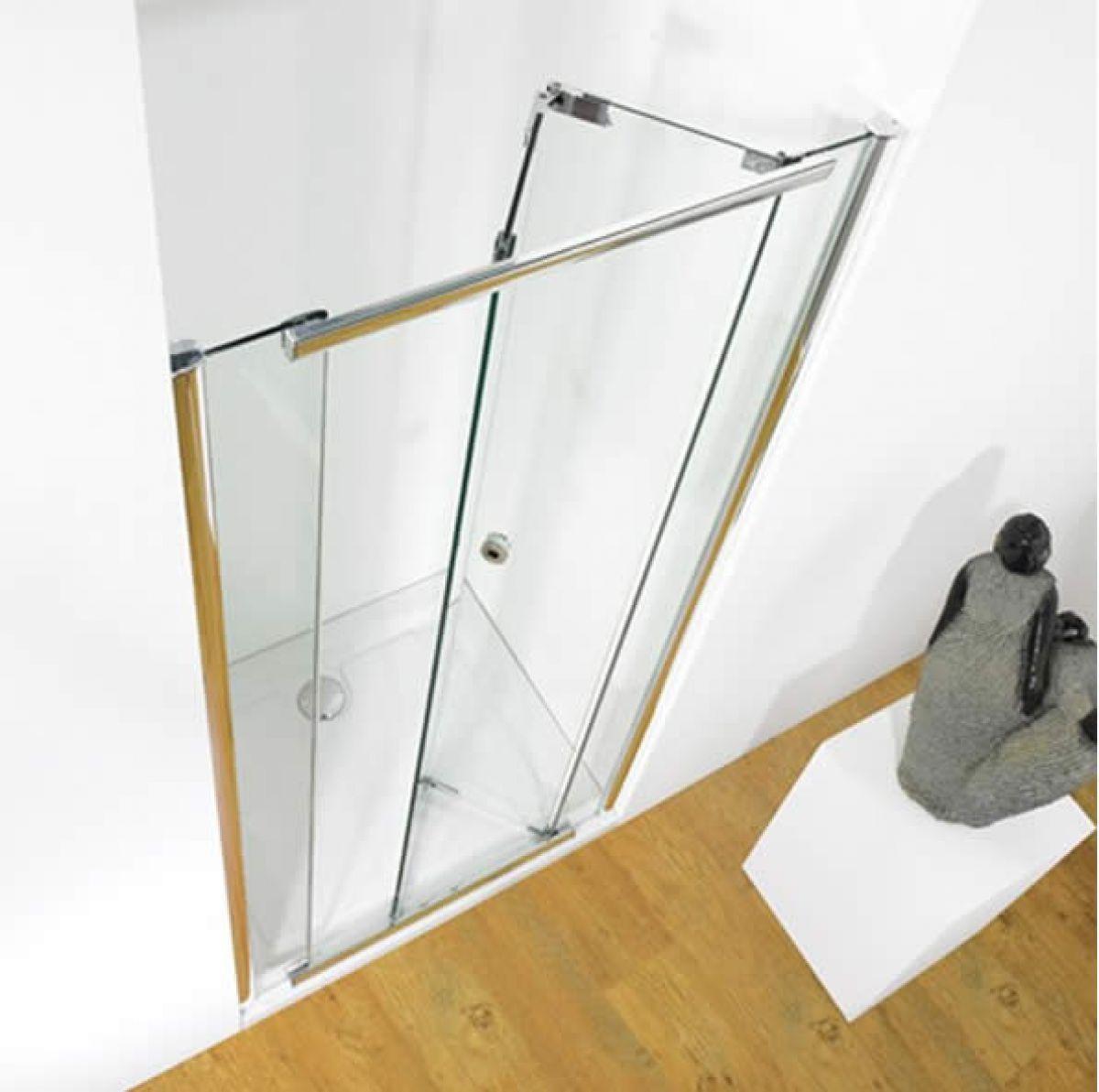 Kudos infinite bi fold shower door uk bathrooms for 1200mm bi fold shower door