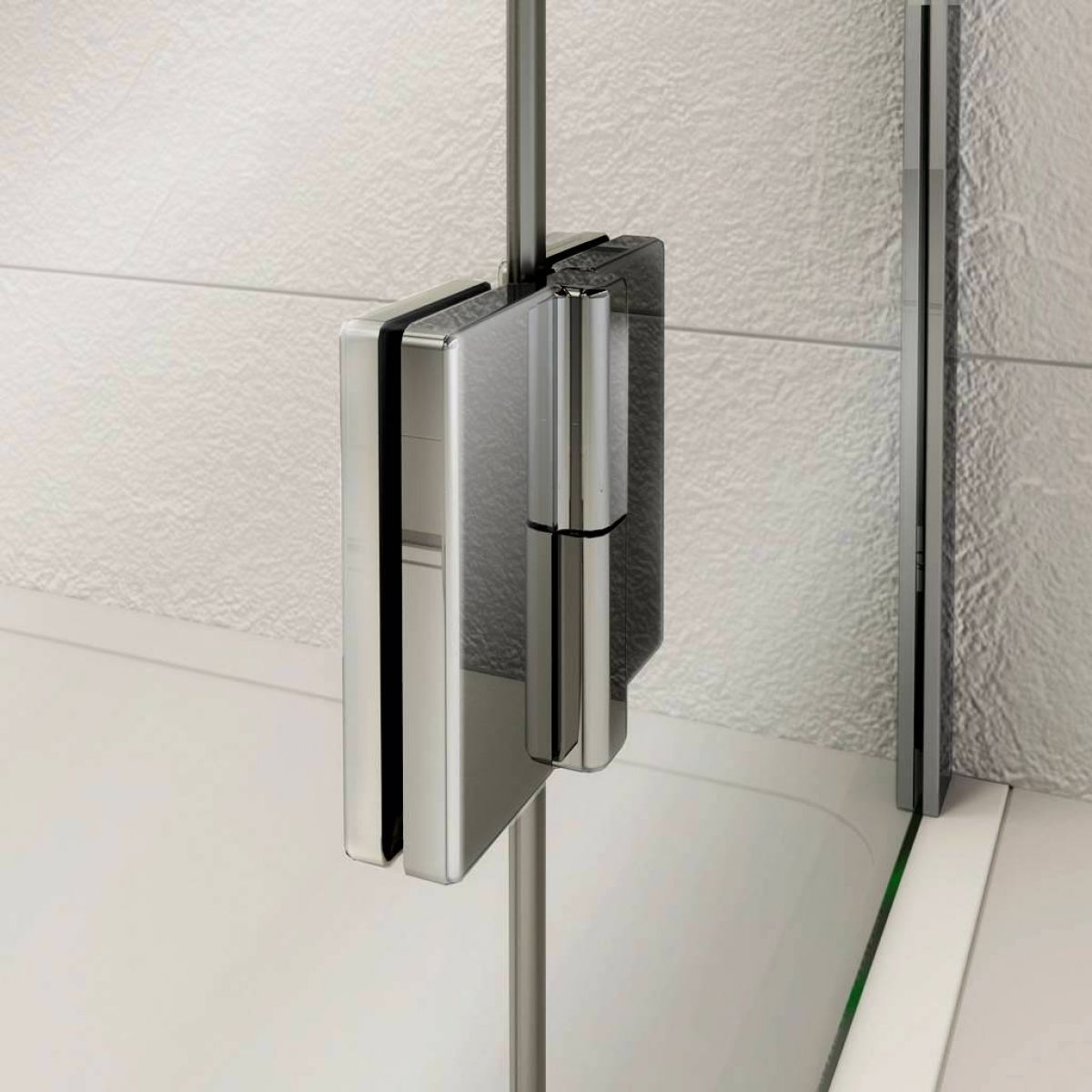 Kudos pinnacle 8 hinged shower door for recess uk bathrooms for 1200 hinged shower door