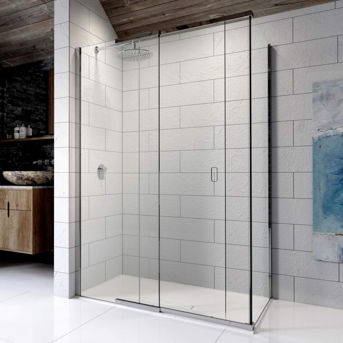 Kudos Pinnacle 8 Sliding Shower Door For Corner Uk Bathrooms