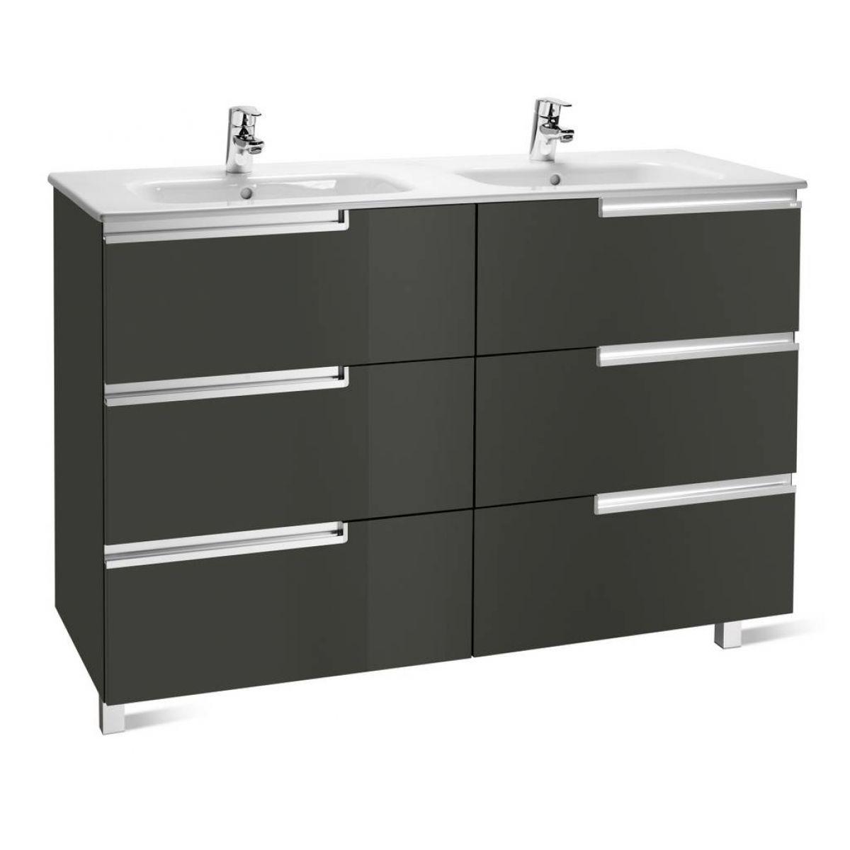 Roca Victoria-N 3 Drawer Double Vanity Unit : UK Bathrooms