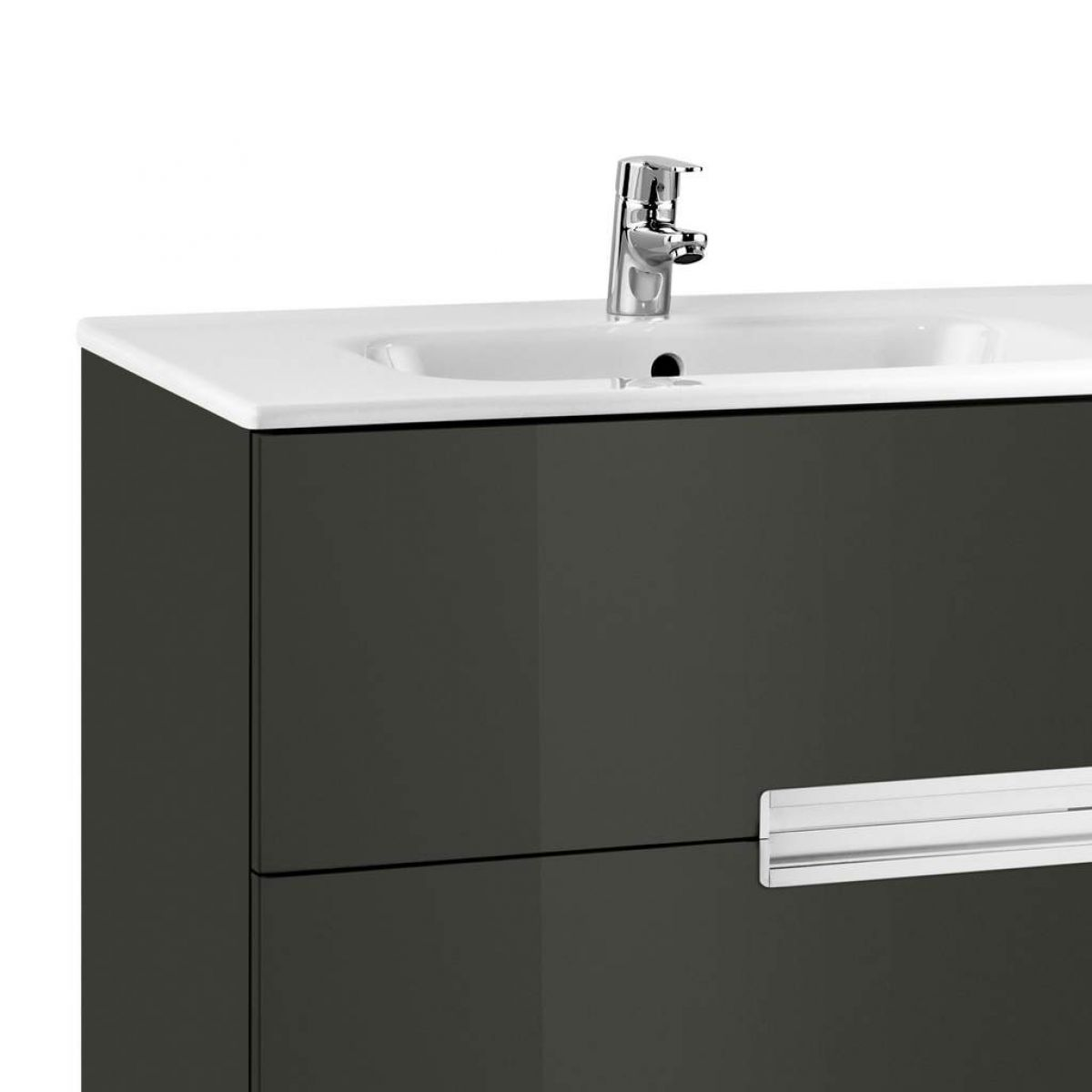 ... Roca Victoria-N 2 Drawer Vanity Unit with Basin ...