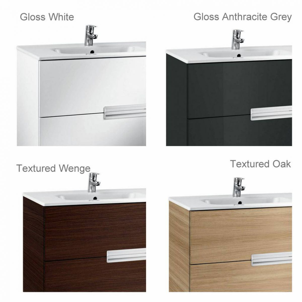 Roca Victoria N 2 Drawer Vanity Unit With Basin