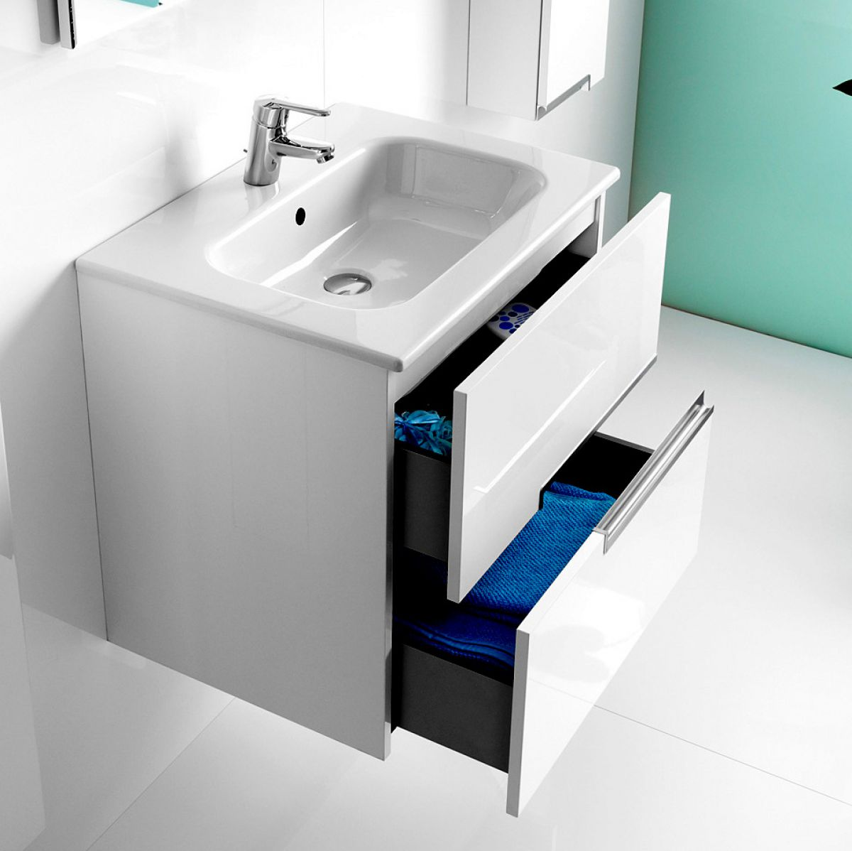 Roca Victoria-N 2 Drawer Vanity Unit with Basin : UK Bathrooms