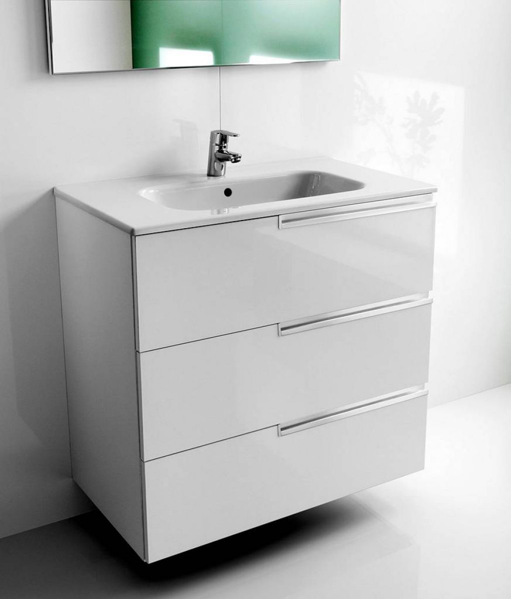 Roca Victoria-N 3 Drawer Vanity Unit with Basin ...