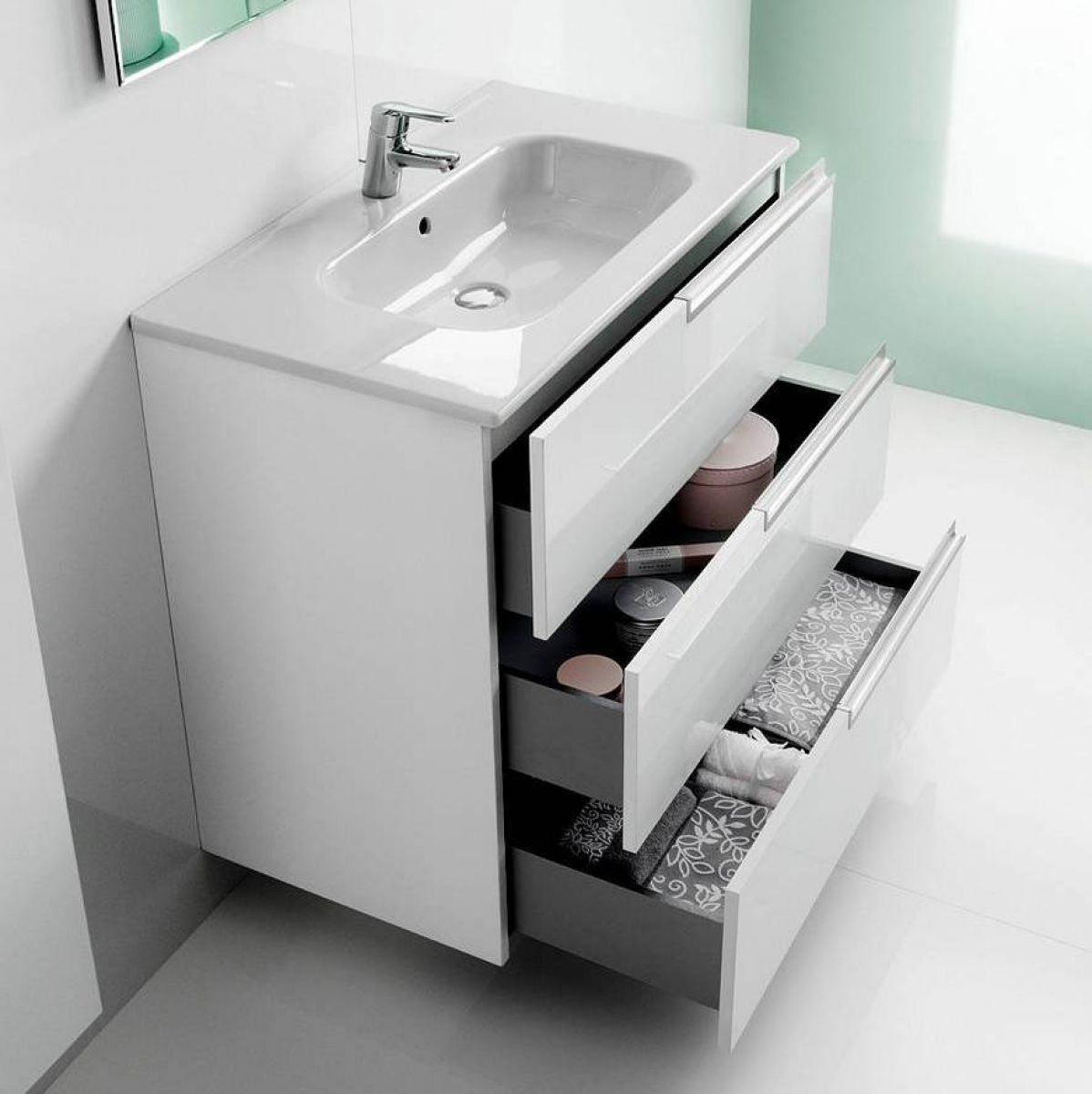 bathroom sink vanity units. Roca Victoria N 3 Drawer Vanity Unit with Basin  UK Bathrooms