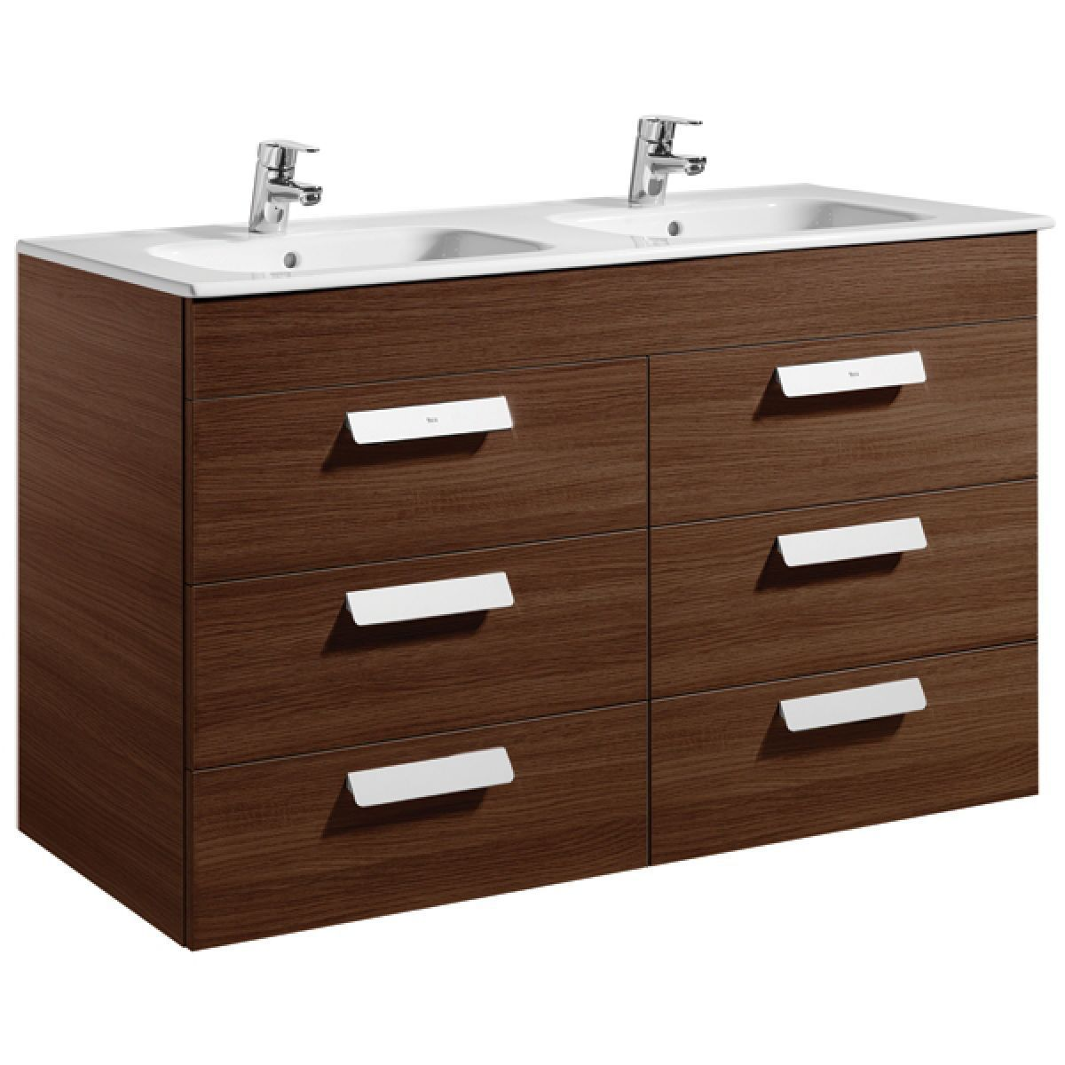 Roca debba double basin vanity unit with drawers uk