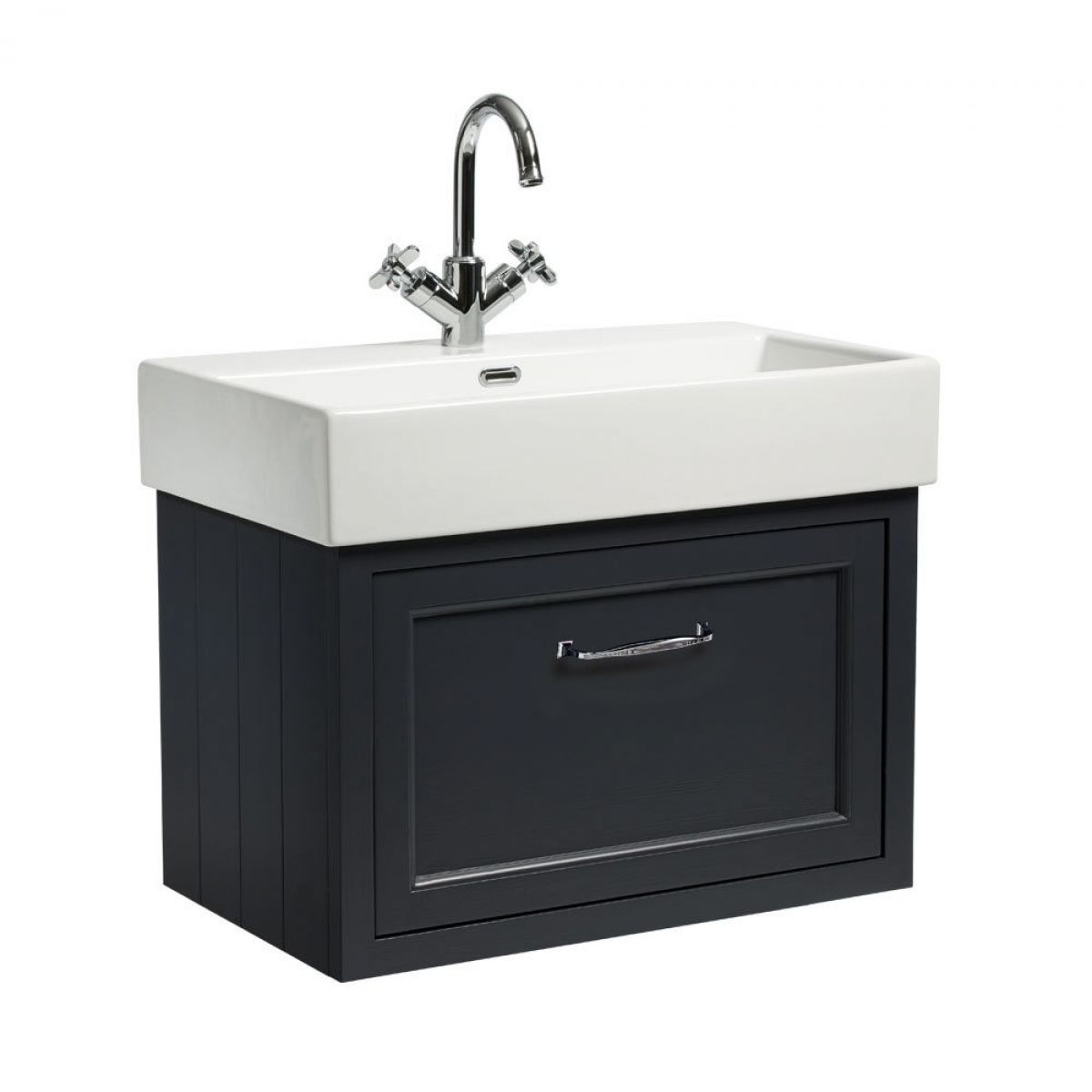 Roper rhodes hampton 700mm wall mounted vanity unit uk for Bathroom furniture 700mm