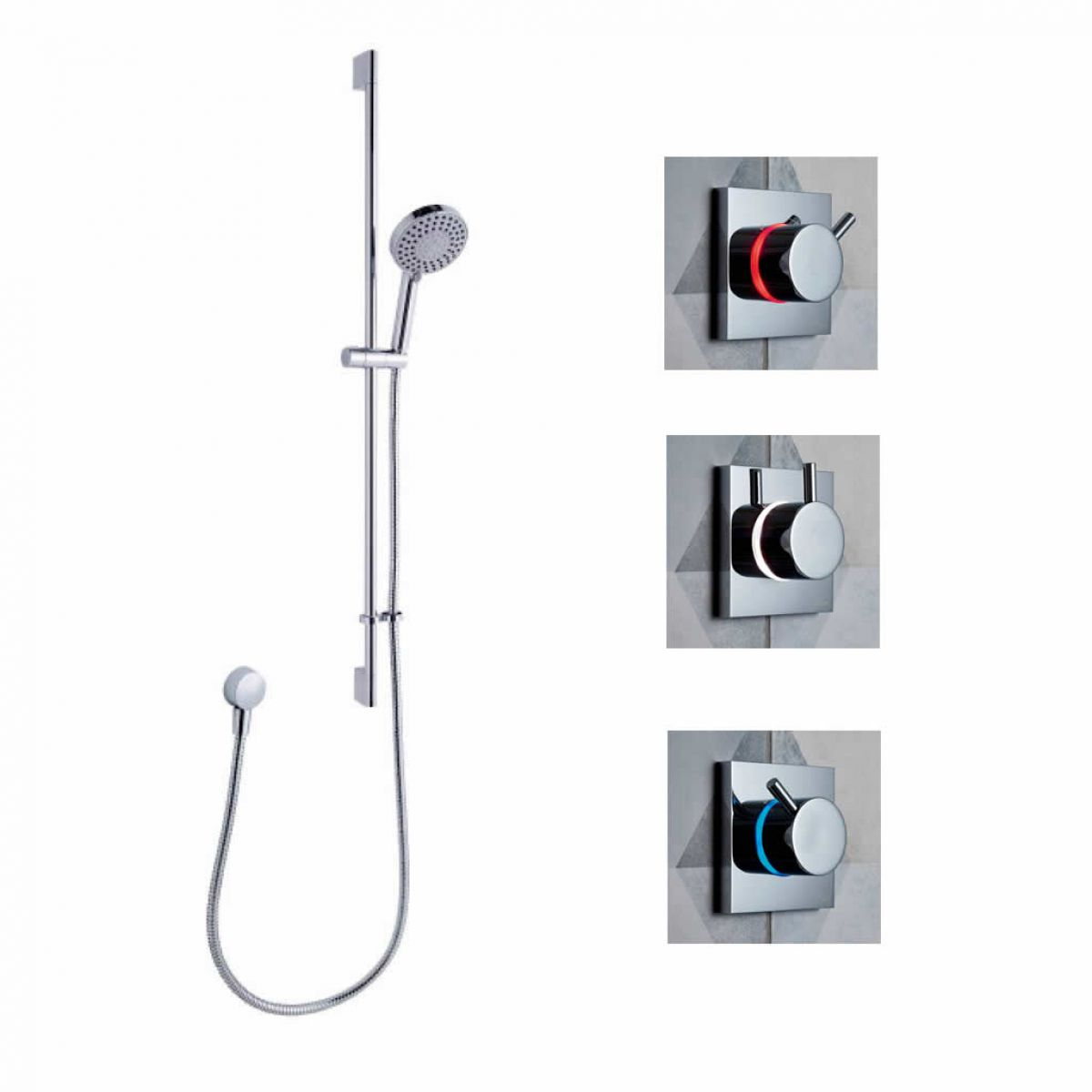 Crosswater Digital Kai Lever Shower Kits : UK Bathrooms