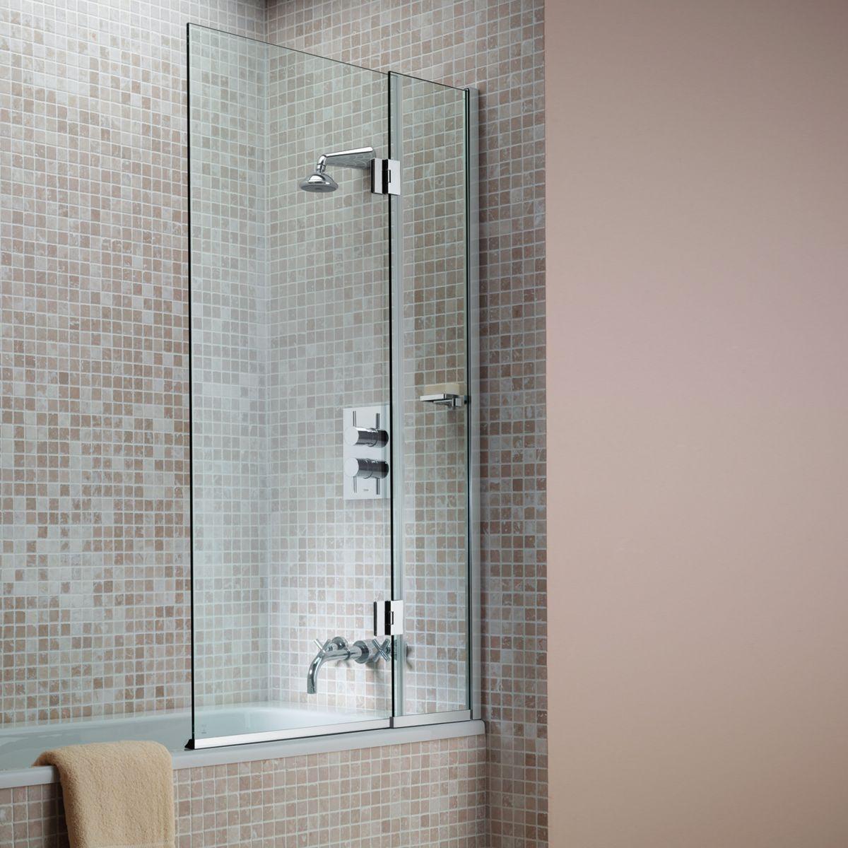Matki Hinged Bath Screen : UK Bathrooms