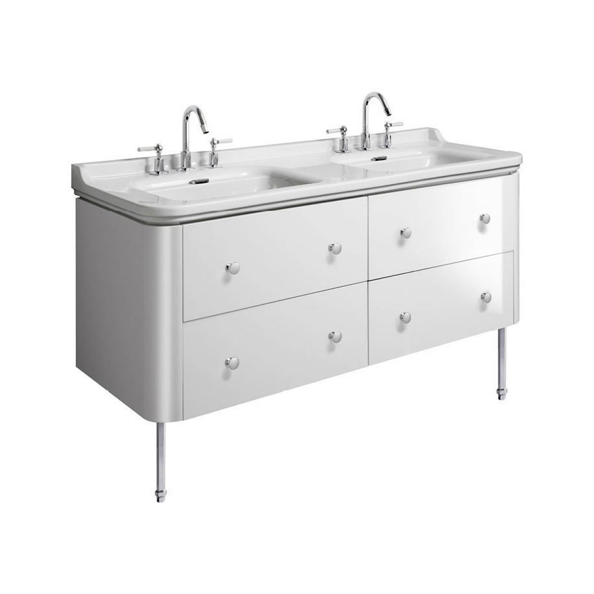 Bauhaus Waldorf Double Vanity Unit With Legs Uk Bathrooms