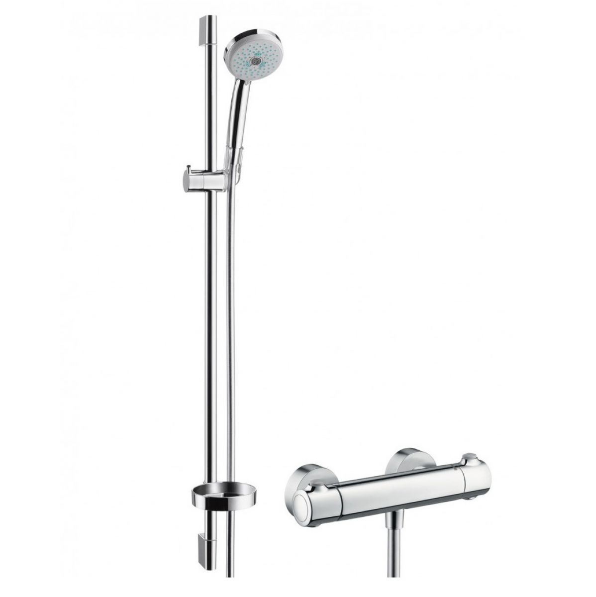 hansgrohe croma 100 multi ecostat 1001 sl shower set. Black Bedroom Furniture Sets. Home Design Ideas