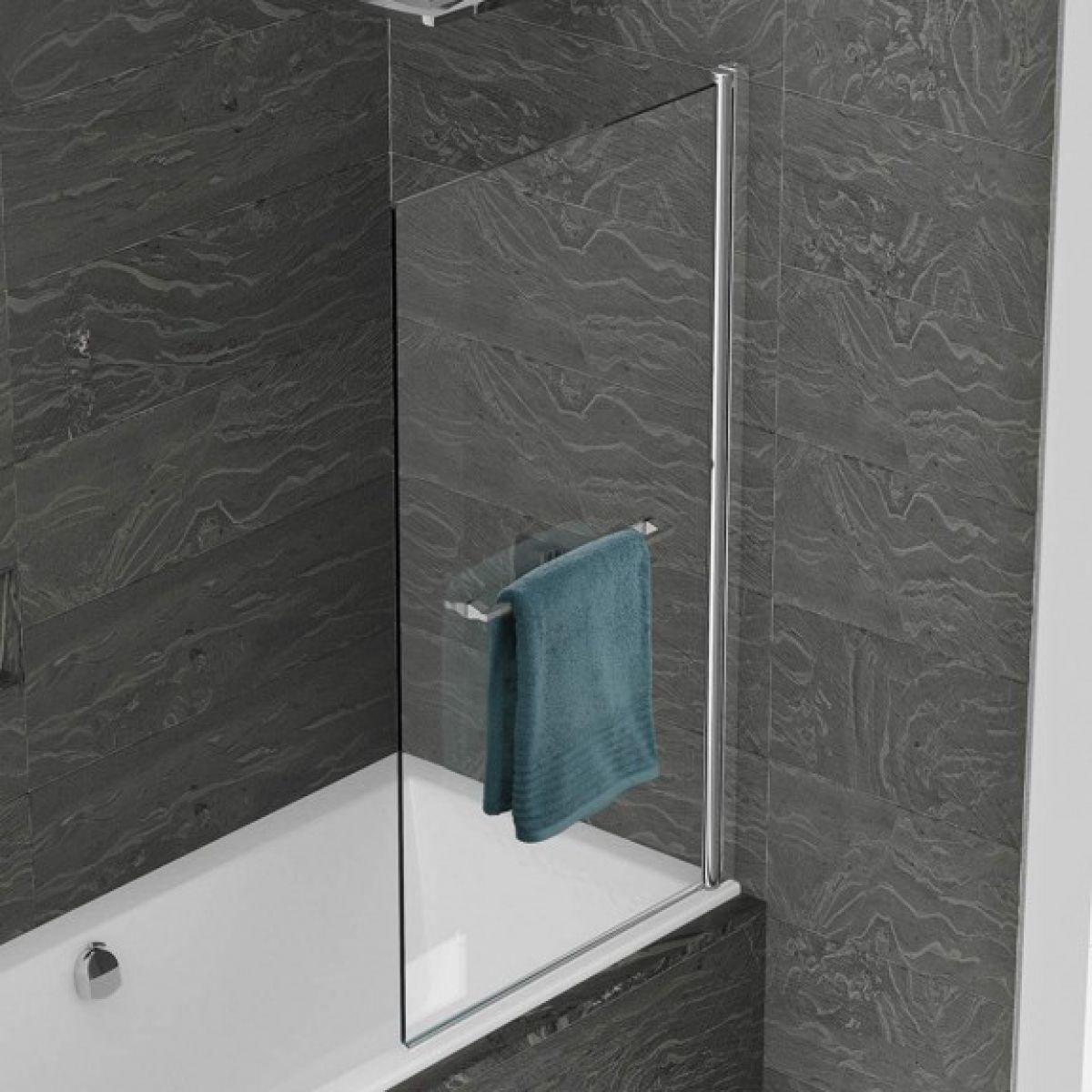 single shower screen mobroi com kudos inspire single panel bath screen uk bathrooms
