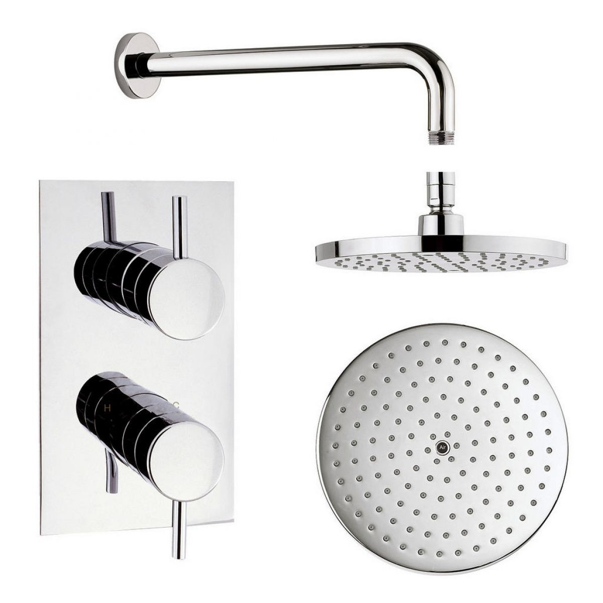 Origins Recessed Thermostatic Shower Valve and Fixed Shower Head ...