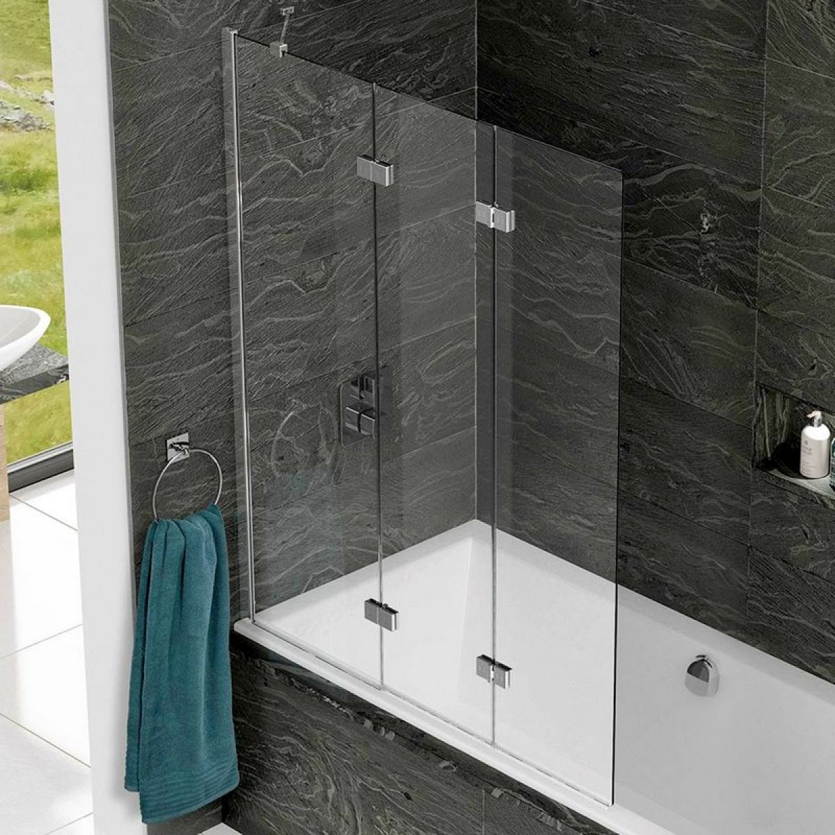 Kudos inspire 3 panel bath screen uk bathrooms for 3 bath