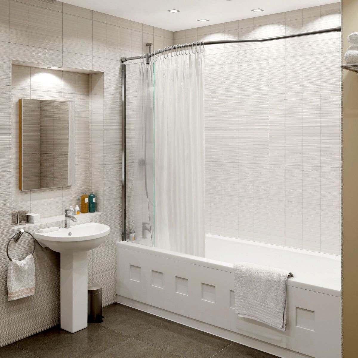 kudos inspire over bath shower panel uk bathrooms
