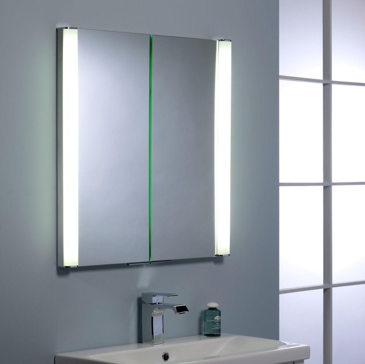 Aluminium Bathroom Cabinets Roper Rhodes Transition Illuminated Recessible Cabinet Uk Bathrooms
