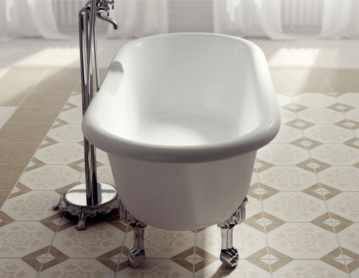 Ramsden & Mosley Rona Double Ended Roll Top Bath : UK Bathrooms