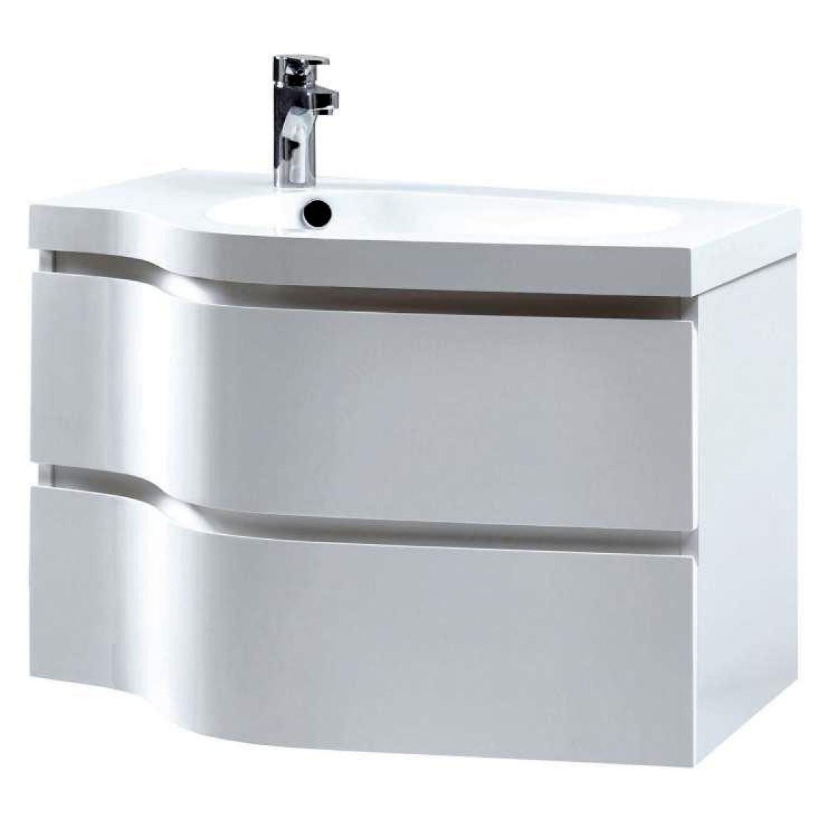 Phoenix Wave Vanity Unit With Mineral Cast Basin Uk