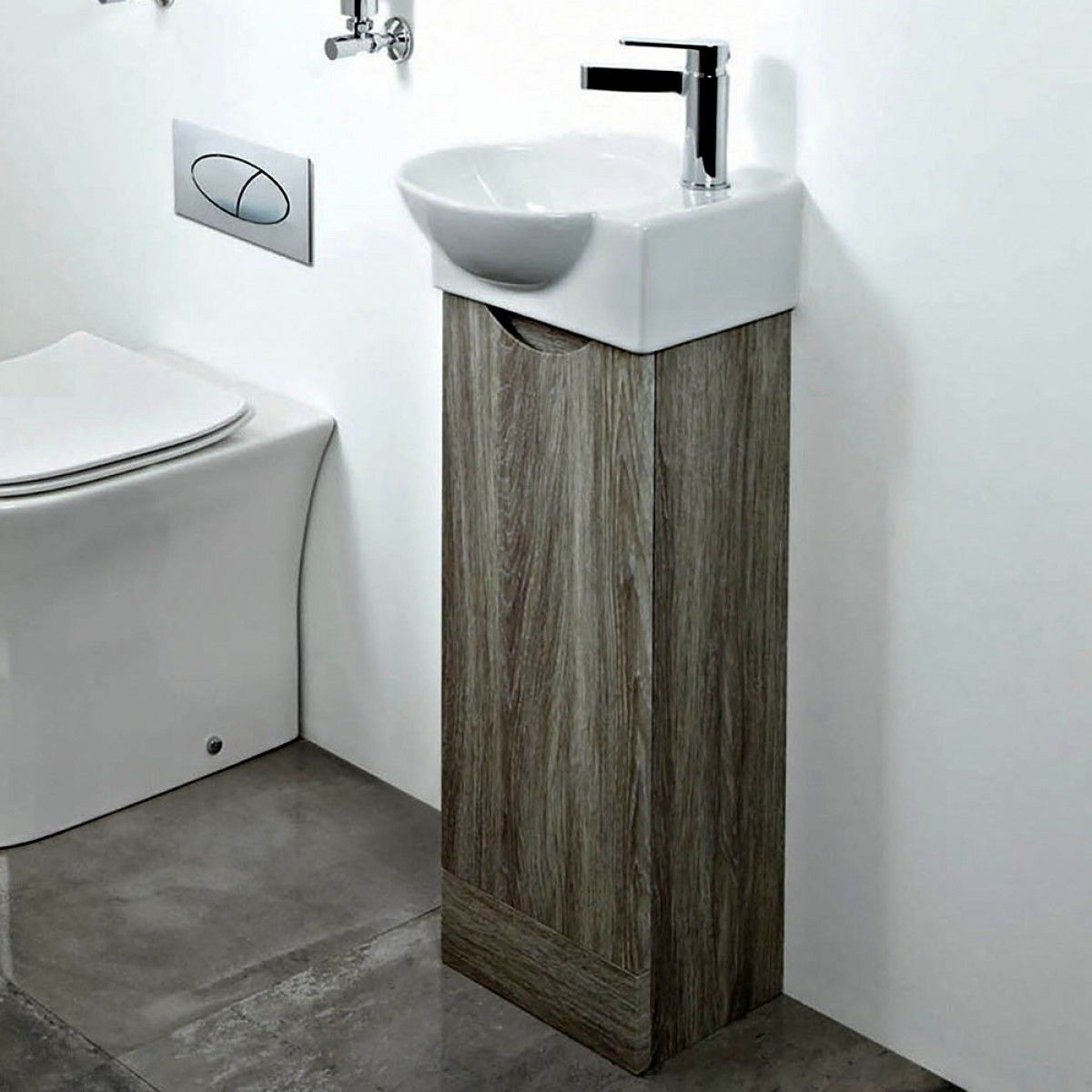 phoenix georgia cloakroom vanity unit with basin uk bathrooms rh ukbathrooms com Bathroom Vanity Unit Wall 30 Oak Bathroom Vanity