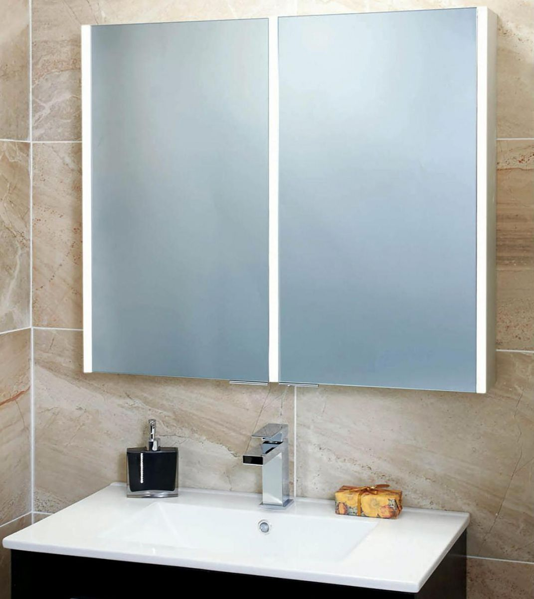 Phoenix Saturn Bathroom Mirror Cabinet