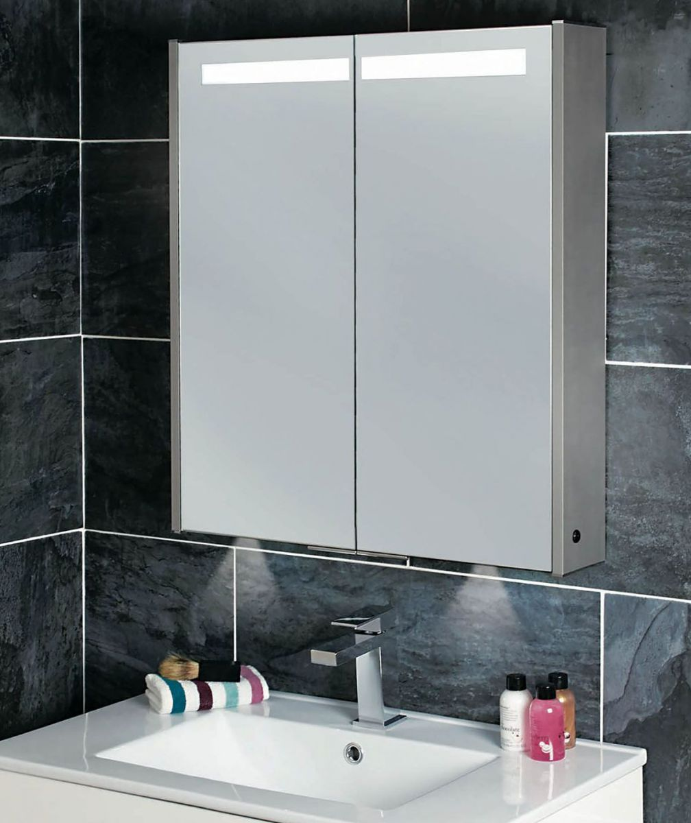 Phoenix Mercury Mirror Cabinet With Lighting Uk Bathrooms