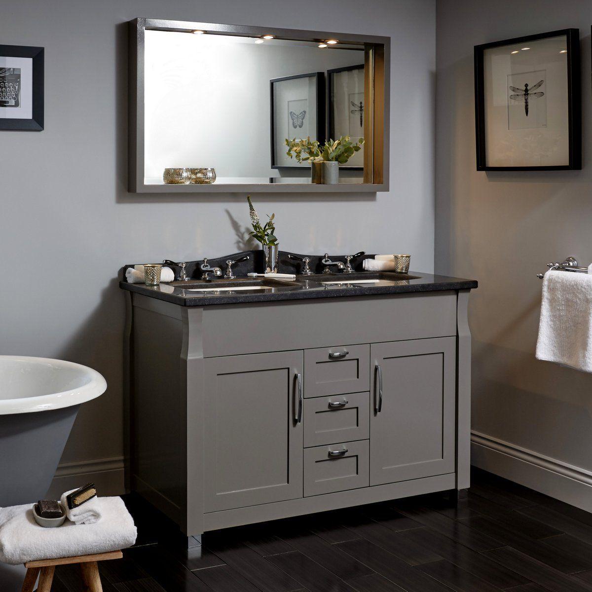 Imperial Radcliffe Westbury Twin 2 Door Vanity With 3 Drawers Uk