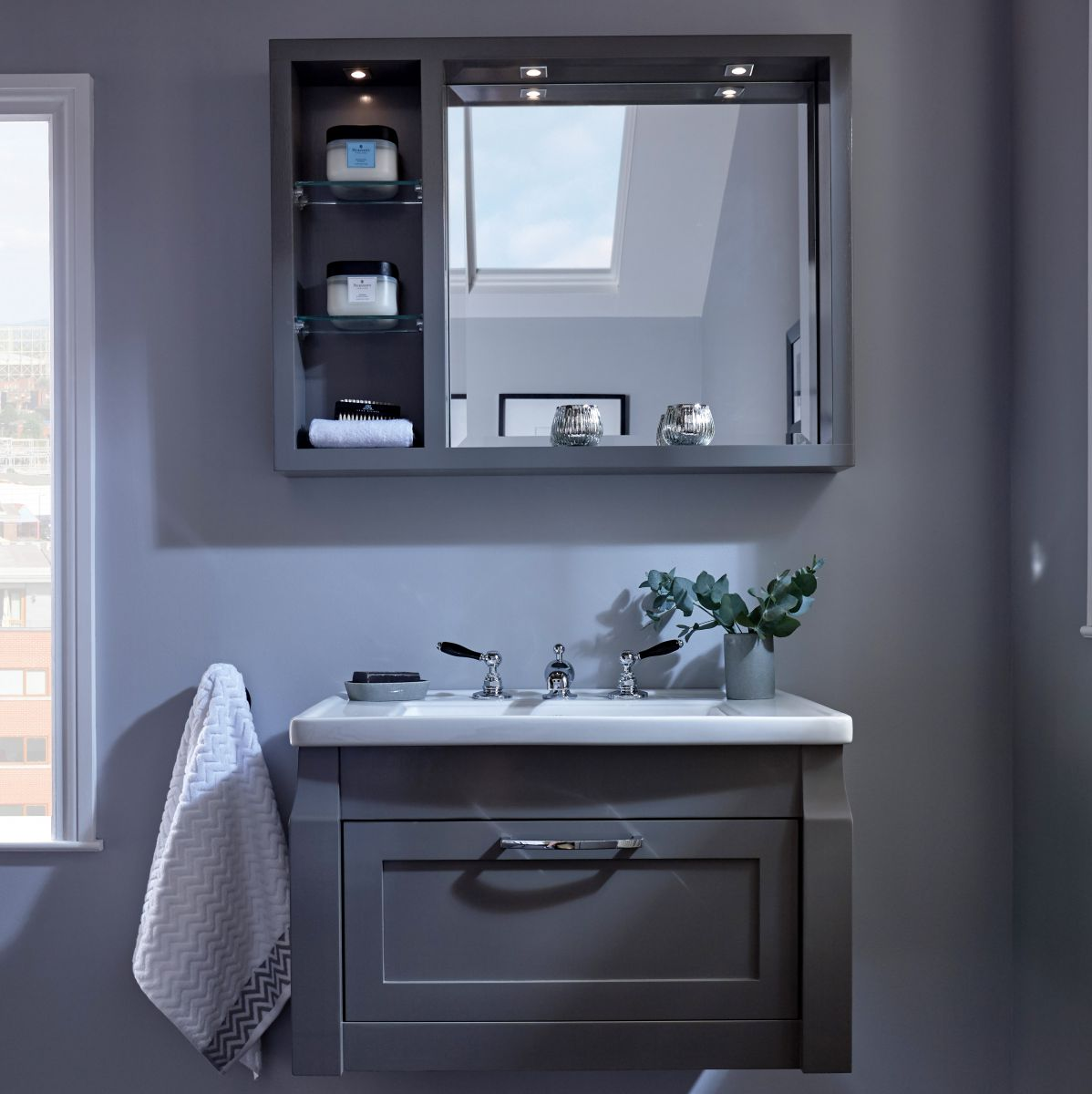 Imperial Radcliffe Westbury Wall-hung Vanity Unit with 1 Door : UK ...